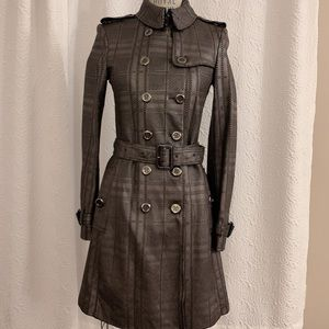 Authentic Burberry lamb leather trench coat